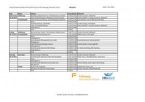 Ablaufplan Folkwang Uni Essen