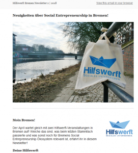 Newsletter Social Entrepreneurship in Bremen
