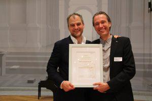 Nils und Frank Kühne beim Deutschen CSR Preis 2018