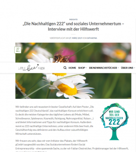 little_bee_fresh – Interview mit der Hilfswerft